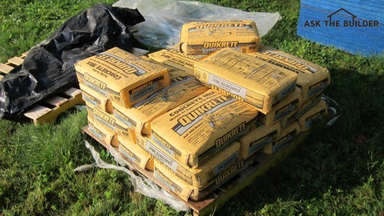 You can transform these bags of concrete into many things around your home. You just need minor skills and practice! Photo Credit: Tim Carter