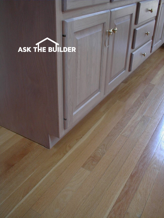 Hardwood Flooring And Cabinetry Installation Ask The Builder