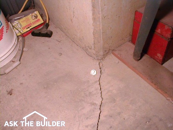 concrete slab crack