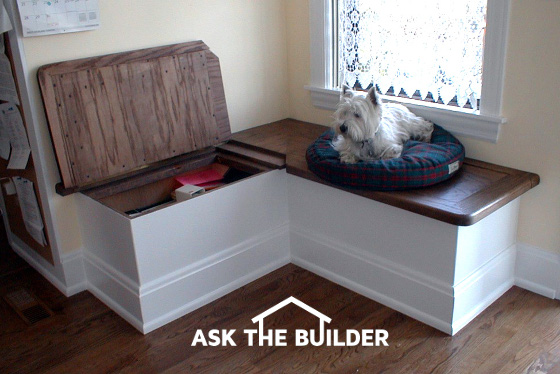 Window seat ask the builder for Ask the builder