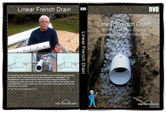 Simple Trench Drain Dries Soil Basement Amp Crawlspace