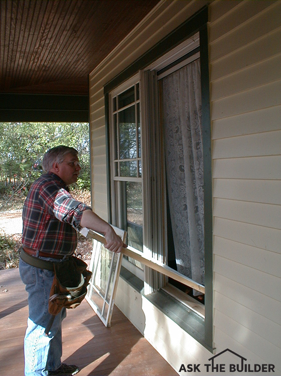 Tim replacing front window