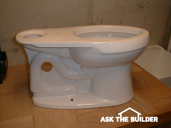 toilet side view not installed