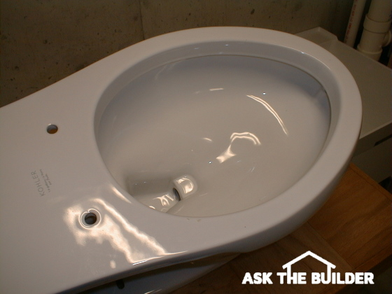 empty toilet bowl - not installed