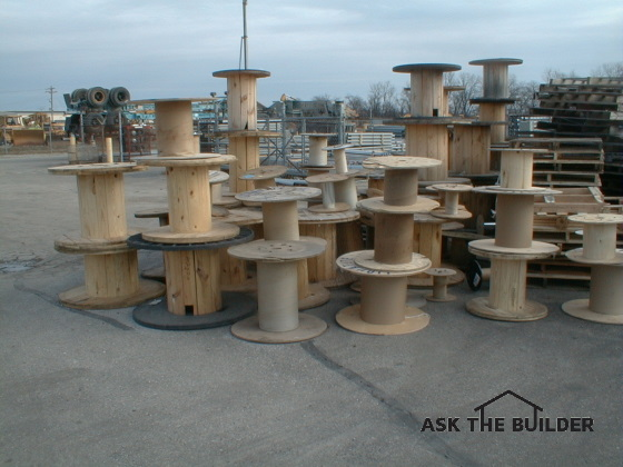 cable spools for table legs