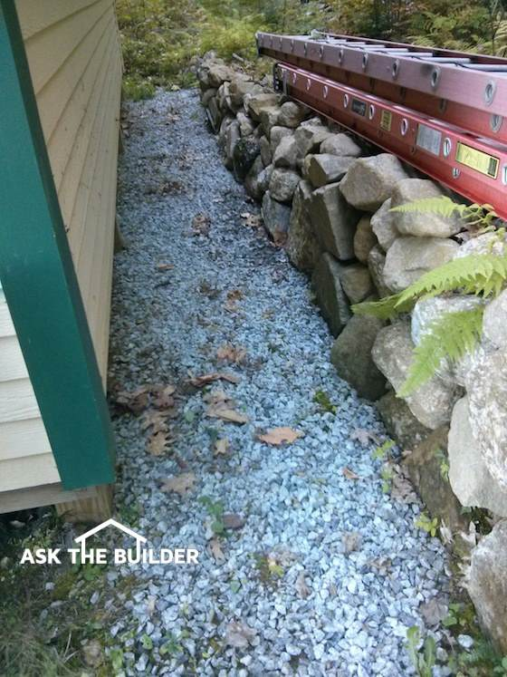 French Drain Is A Gutter In The Soil Simple Trench