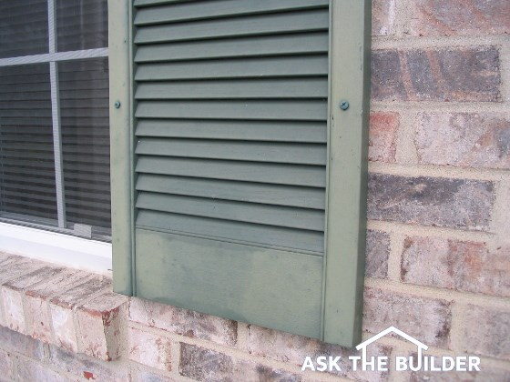 painting vinyl shutters ask the builder