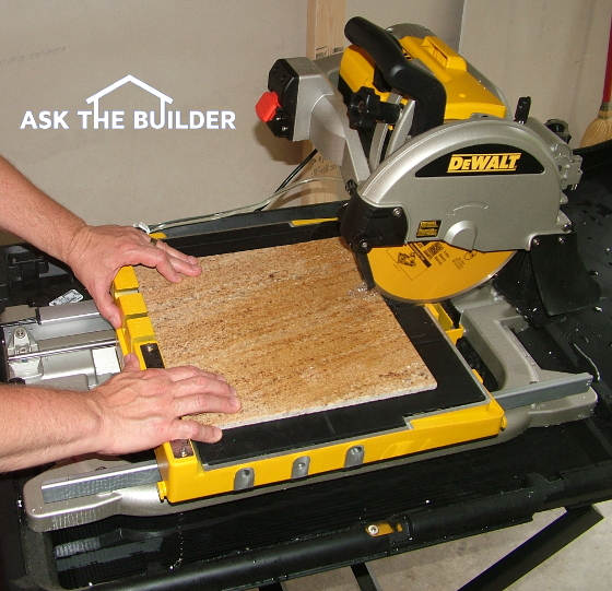 Ceramic Tile Saw - Ask the Builder