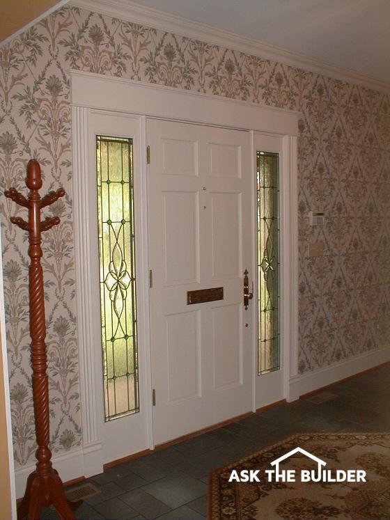 glass window door farmcrest front door inside