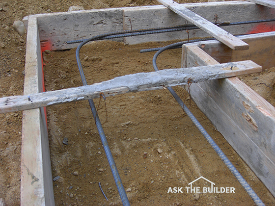 Foundation footer ask the builder for Concrete basement forms