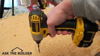 This motorized impact driver is a unique tool that allows you to drive hundreds of screws with little effort. Photo Credit: Tim Carter