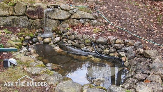 This Garden Pond Was Built With A Simple Shovel And Some Sweat. A Large  Piece