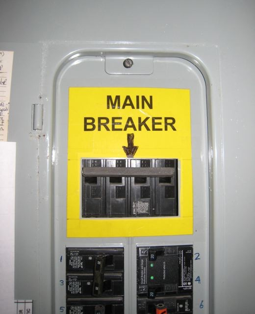 Main Circuit Breaker Shut Off Tip