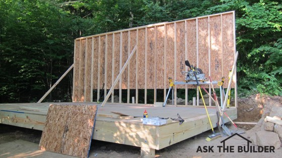 exterior load bearing wall
