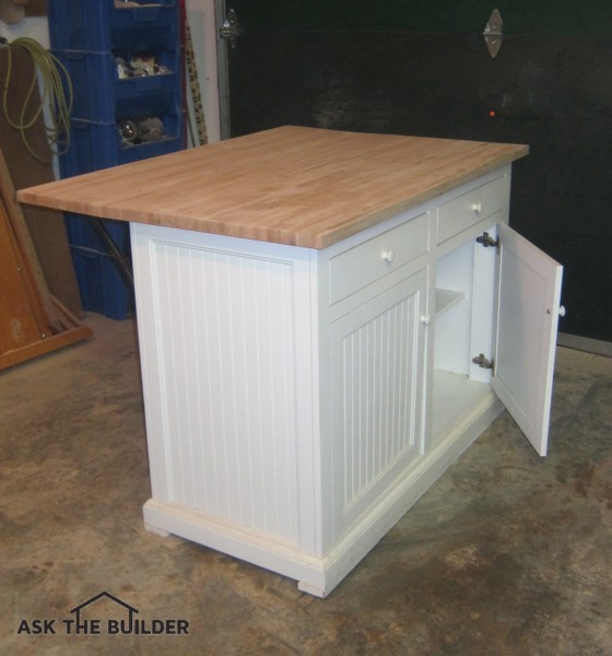This is a kitchen island purchased from an online classified ad site. With a little work, it will look brand new. Photo Credit: Tim Carter