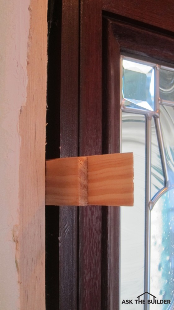 These are wood shims that help keep a door in place. They become invisible once & Working With Wood Shims - Ask the Builder