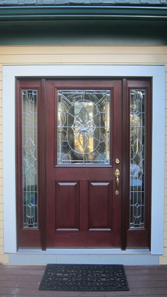 A gorgeous front door like this can be installed in one day. You just need to know secret master carpenter ninja tricks. Photo Credit: Tim Carter
