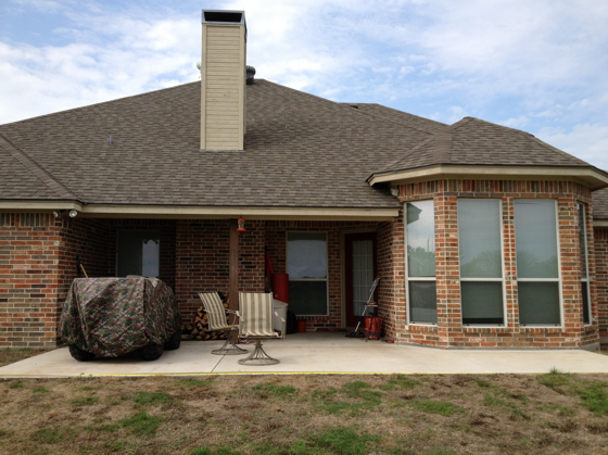 This Patio Will Be Extremely Difficult To Enclose. The Irregular Shape Of  The House And