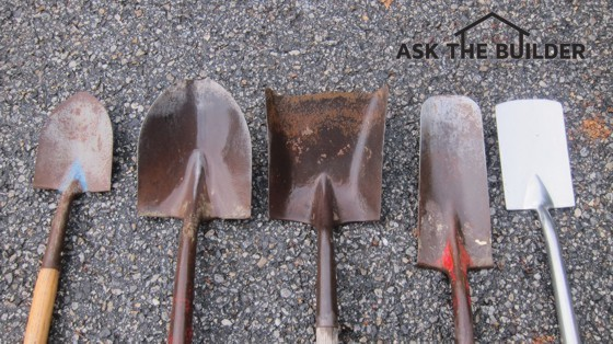 These shovels are shaped differently for a reason. Each one does a particular job very well. Photo Credit: Tim Carter