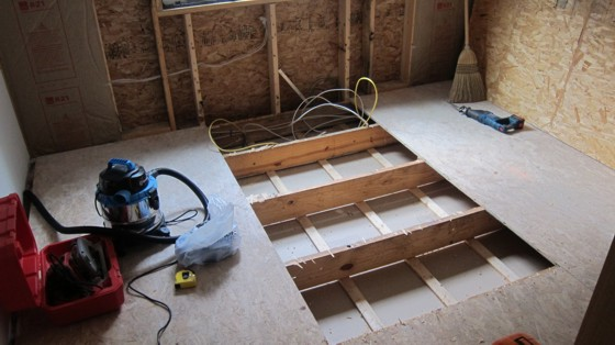 How to remove a piece of wood subfloor ask the builder - How to replace subfloor in bathroom ...