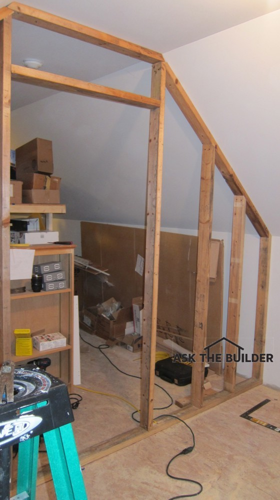 Framing Partition Wall : How to build a sloping partition wall ask the builder