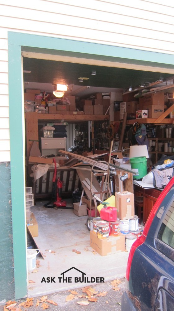 This garage has been overtaken by things that are not cars. It's time to organize the space. Photo Credit: Tim Carter