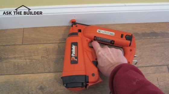 Finishing Nail Size For Trim : How to drive finish nails into wood ask the builder