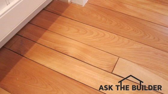 This Hardwood Floor Got Wet, Swelled, Then Dried. Cracks Are Now Telling The