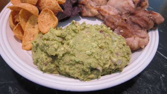 Here's a closeup shot of the famous AsktheBuilder guacamole. It's more addictive than crack cocaine. Photo credit: Tim Carter