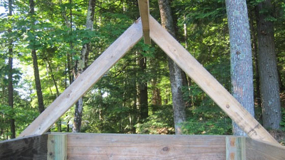 Here you see two simple roof rafters like you might find on a doghouse or a mansion. The process to create either is the same. Photo Credit: Tim Carter