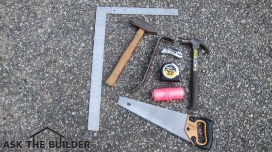 Here are just a few tools I'd recommend a person have who wants to build a shelter in the event of a large-scale disaster. Photo Credit: Tim Carter