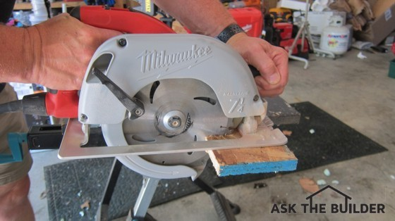 Here's a circular saw in action. If you respect the tool's power, you can accomplish great things with it. Photo Credit: Tim Carter