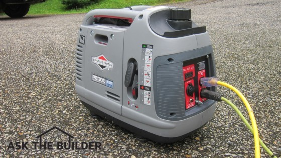This easy-to-carry electric generator can get you out of a bind in a power outage or make a camping trip or picnic more enjoyable. Photo Credit: Tim Carter