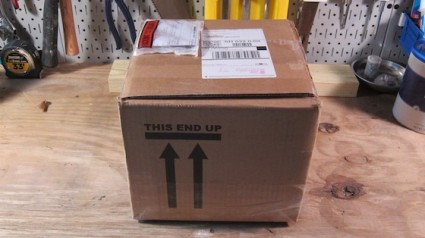 Here's the box exactly as it arrived. It traveled over 500 miles to get to me. Photo credit: Tim Carter