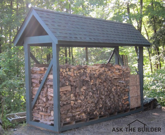 How to build a custom firewood shelter ask the builder for Wood pallet gazebo