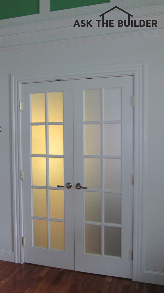 These two french doors can be hung separately as single units with some work. Photo Credit: Tim Carter