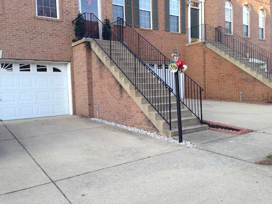 Here's Troy's steps. Photo credit: Troy McWhirter