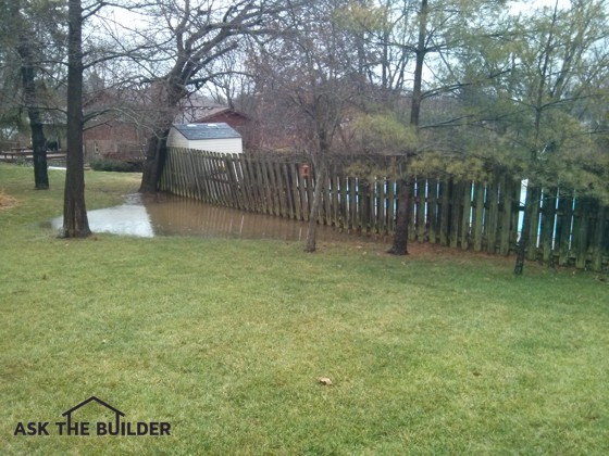 This Ponding Of Rainwater Is Not Normal. The Next Door Neighbor Blocked The  Natural Swale