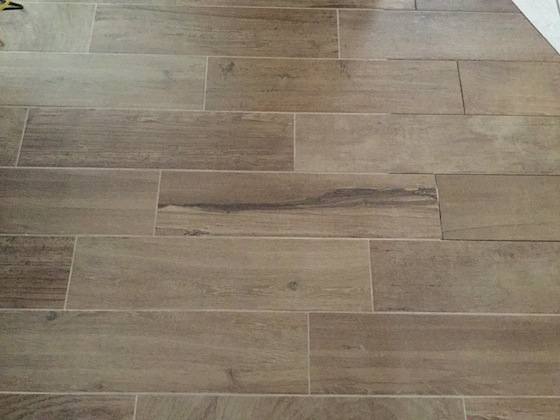Here S Ada Tile Floor Look To The Right You Can See That Grout