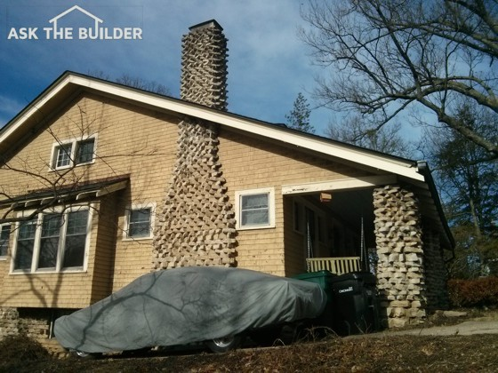 Stone chimney cap ask the builder for Ask the builder