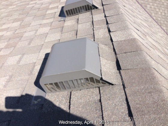 Roof leak vent repair ask the builder Roof leaks when it rains hard