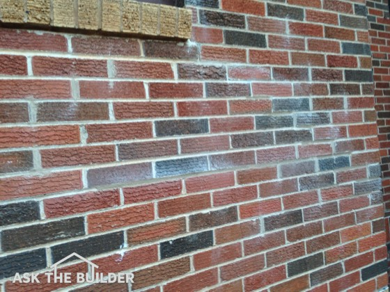 You can see the mortar smears on the brick. These are easy to clean using a common acid. Photo Credit: Beth Dunkleberger