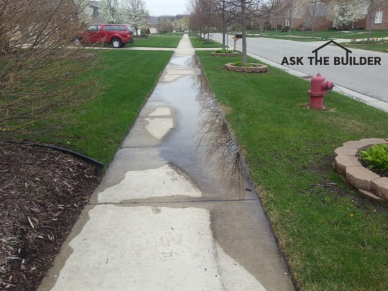 The puddles on this sidewalk are unacceptable. They can be eliminated with a little bit of work. Photo Credit: Bobby O'Steen