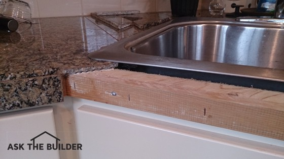 The Granite Pieces At The Edged Of This Countertop Can Be Atteched To The  Wood Substrate