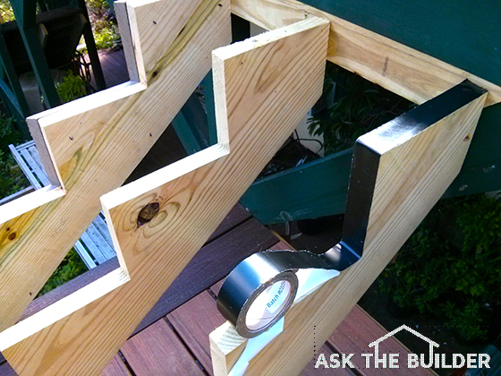 Diy deck stairs ask the builder for Easy stairs diy