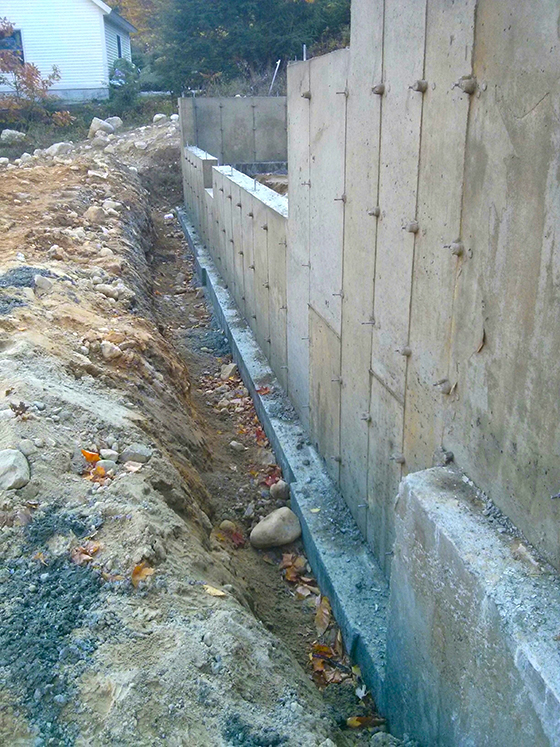 poured foundation or block ask the builder