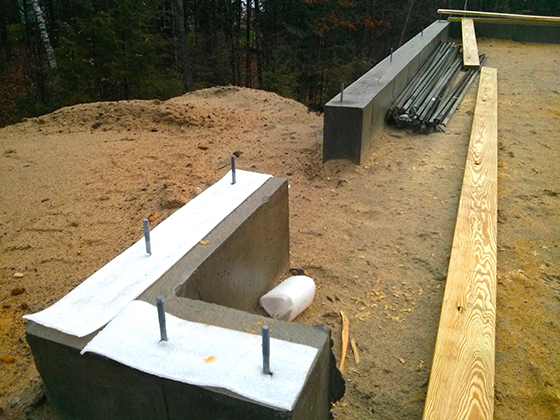 If you're building a new home, don't forget to use a foam sill sealer that sits on top of the foundation and under the treated wood sill plate.© 2016 Tim Carter