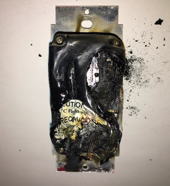 dimmer switch fire