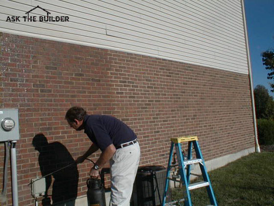 The Brick On The Left Have Been Coated. You Can Clearly See The Wet Edge.  Once The Water Repellent Is Applied And It Dries, The Brick Look Just Like  They ...
