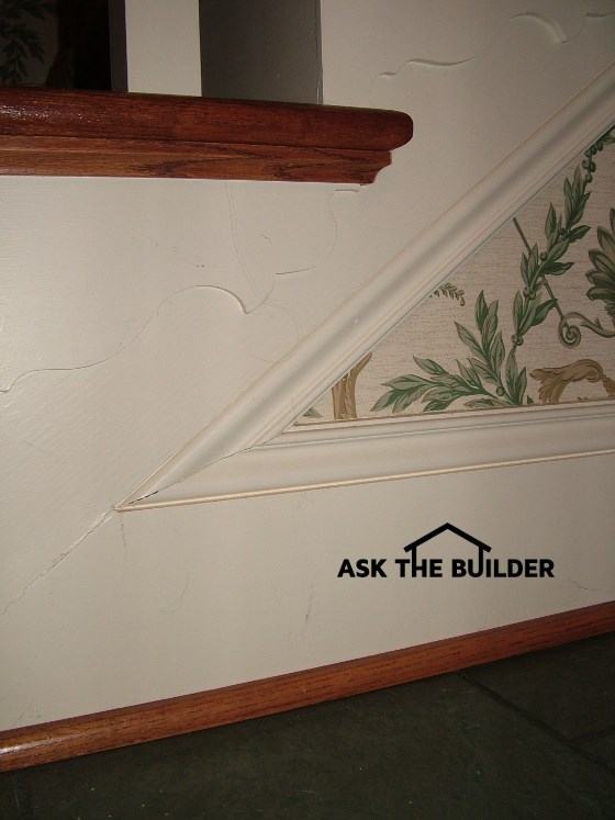 Check Out These Obtuse Angle Cuts On The Same Stair Trim Molding At The  Bottom Of The Staircase Where The Stairs Dive Into The First Floor.